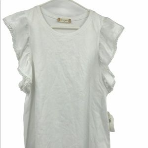 ALTAR'D STATE white short sleeve top NWT size Med
